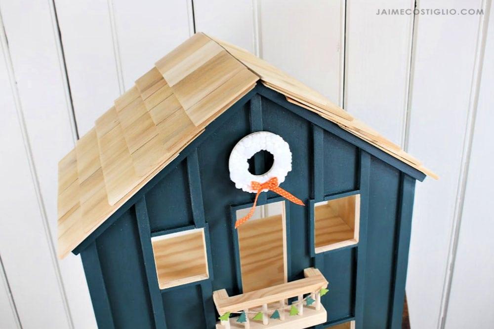 cedar shake roof on dollhouse