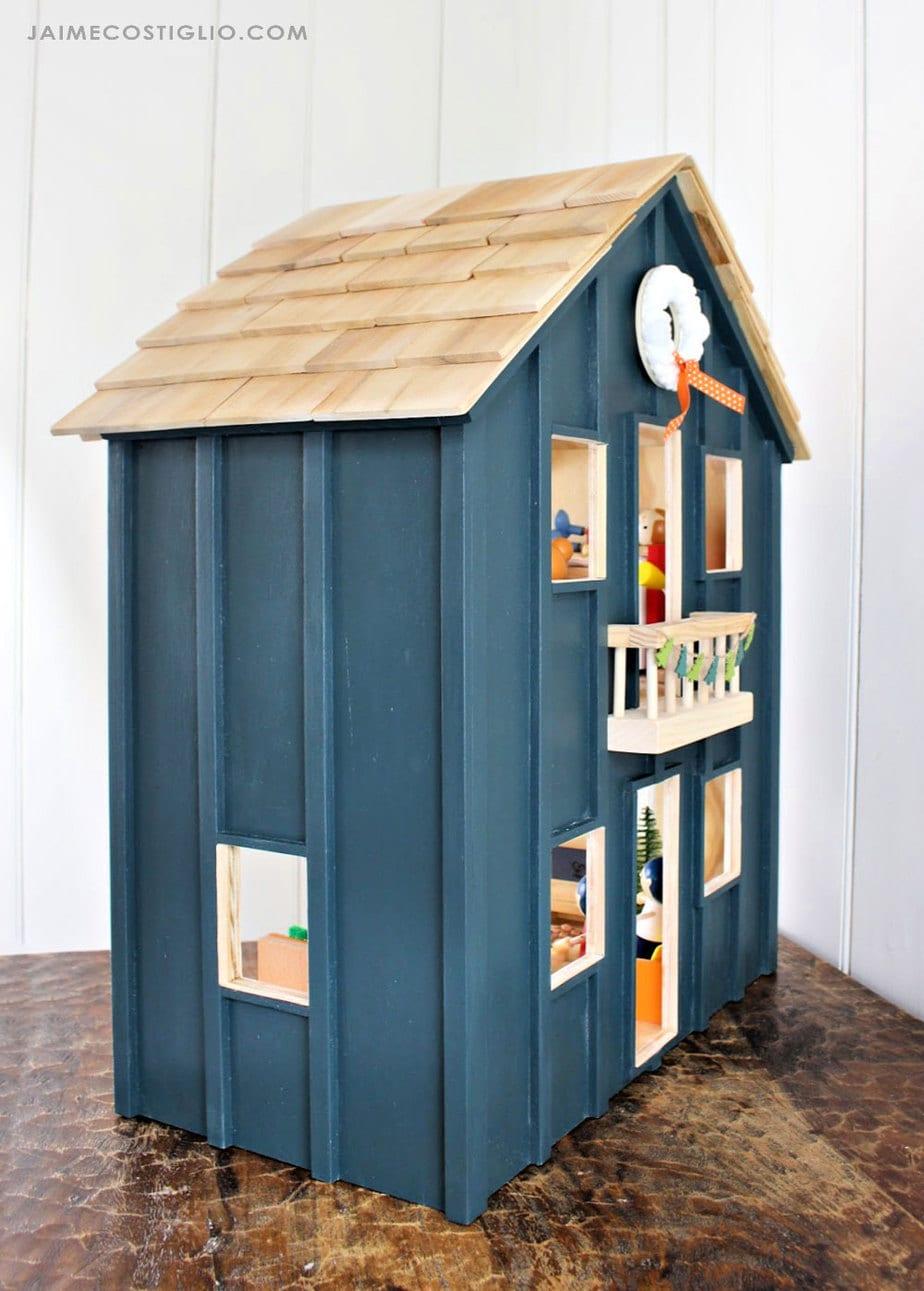 vertical batten exterior dollhouse