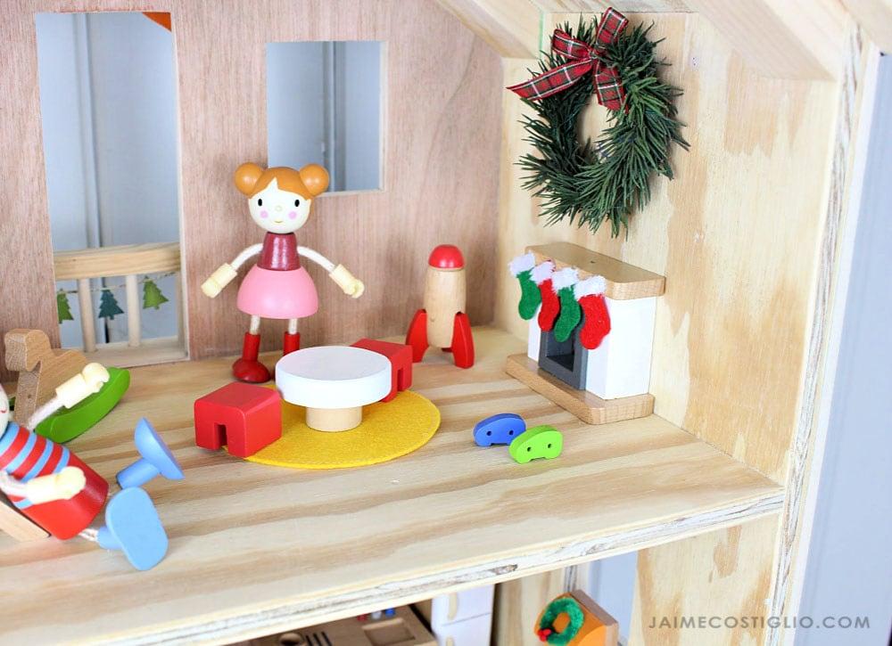 doll playroom Christmas decor