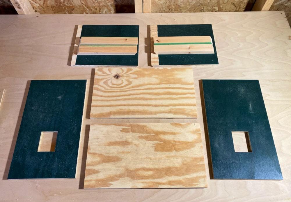 dollhouse wood pieces cut