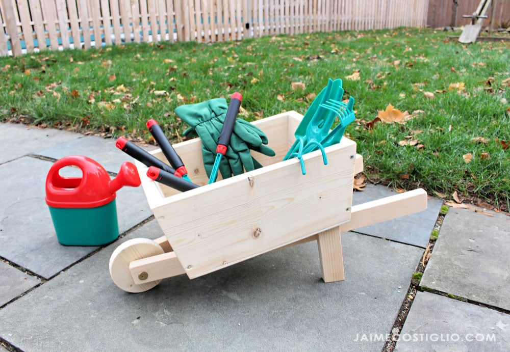 diy kids wood wheelbarrow toy