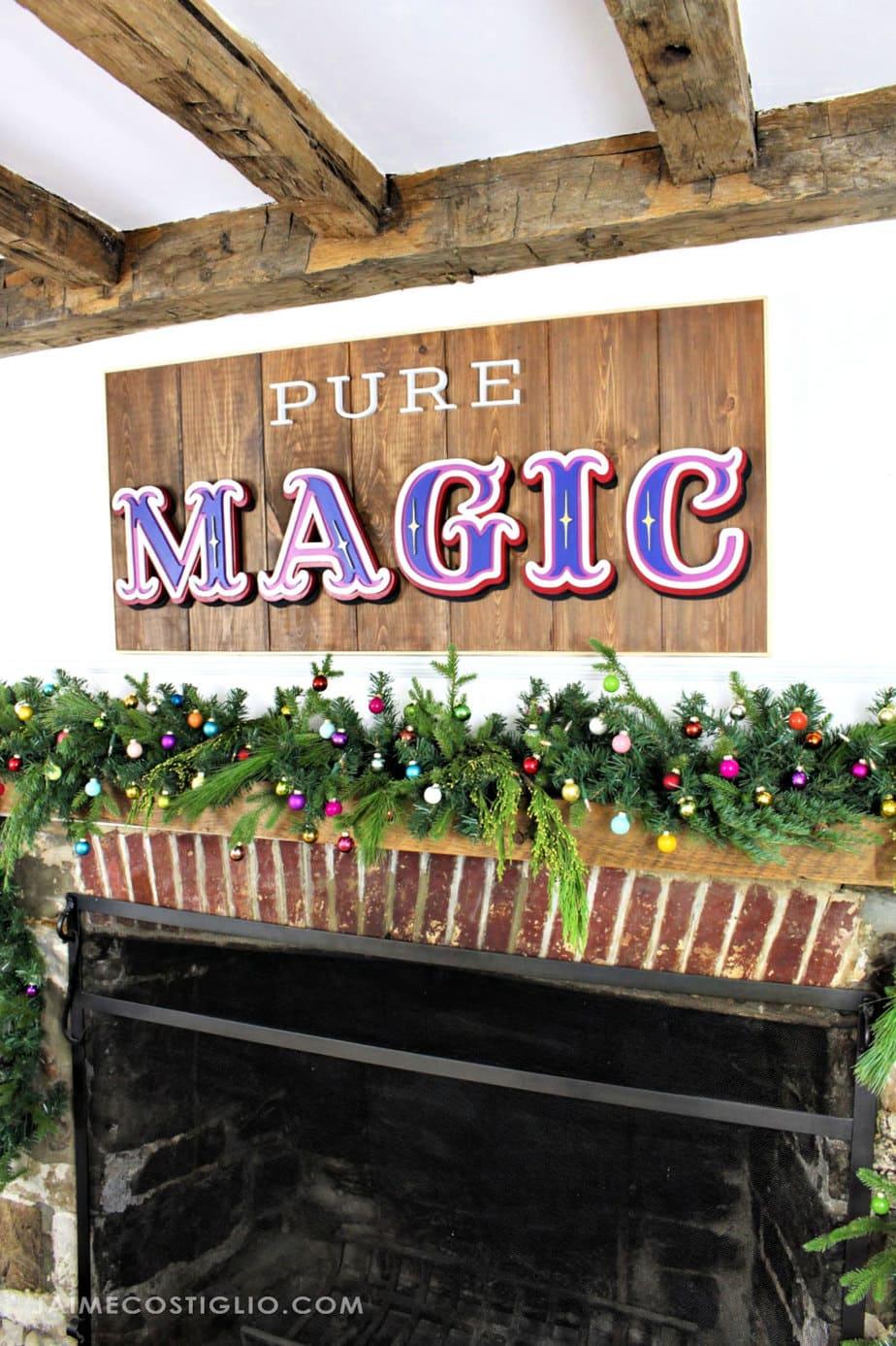 magical christmas mantel