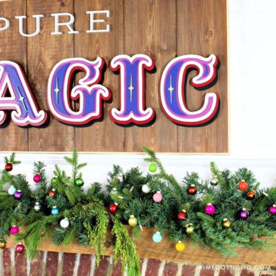 diy magical christmas mantel decor