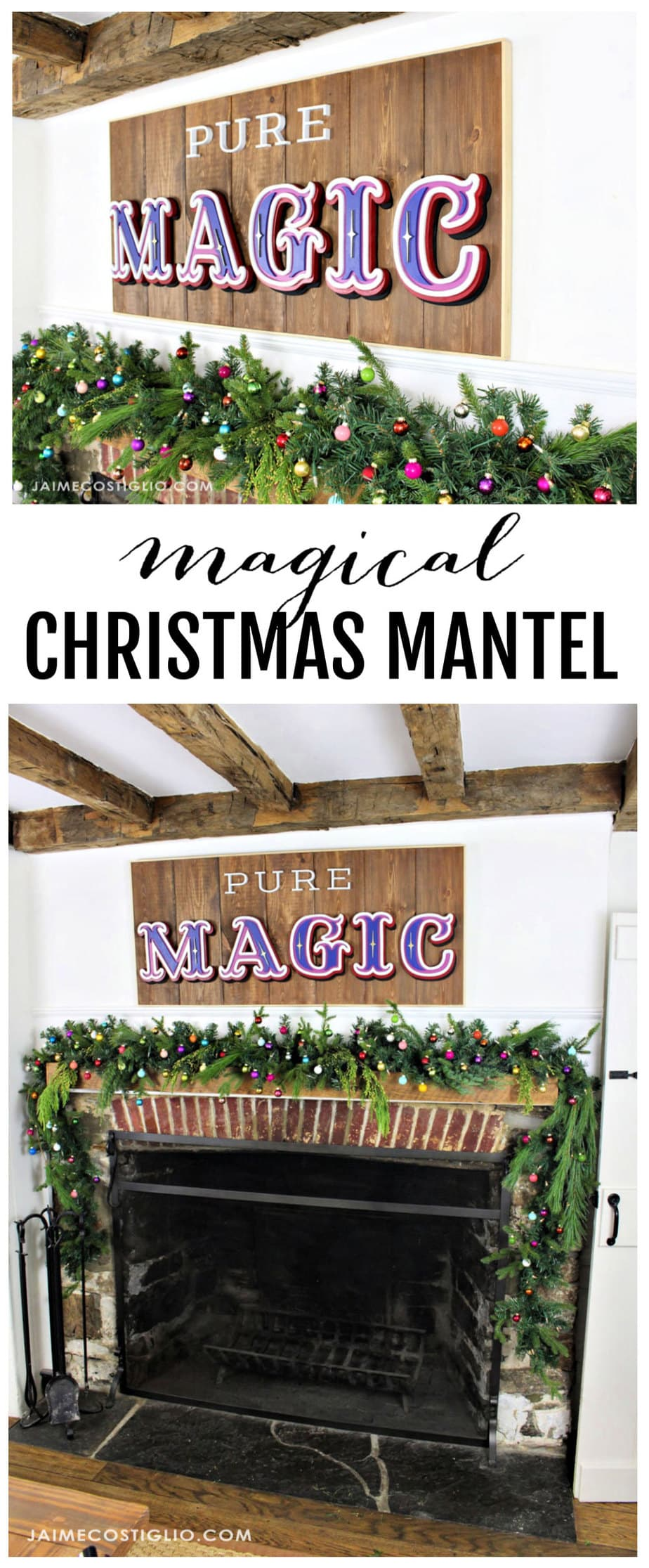 diy magical christmas mantel decor