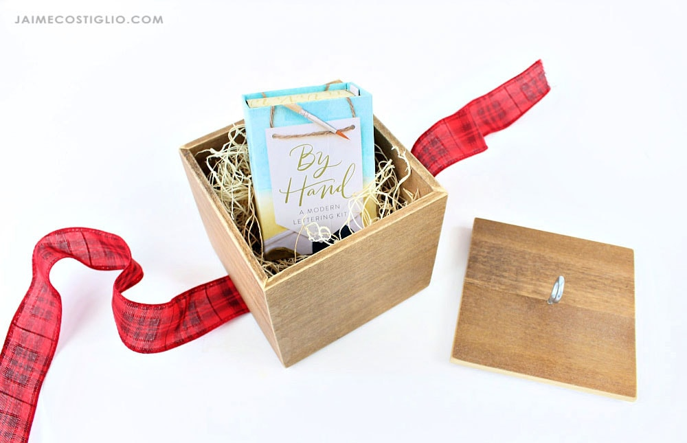 diy gift box from wood