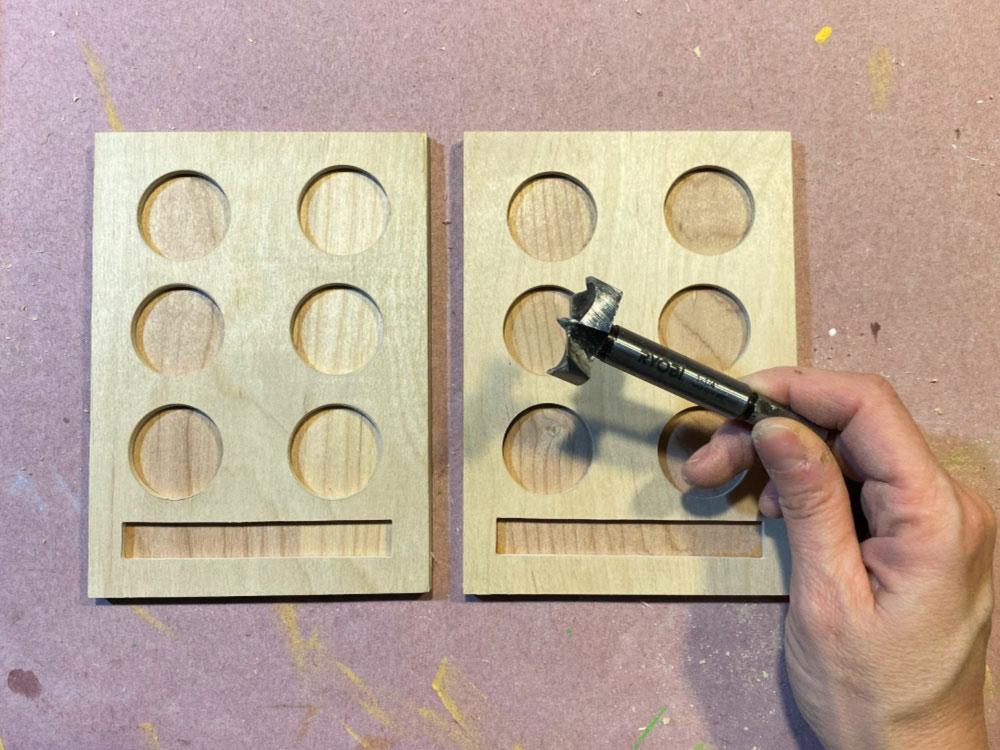 forstner bit to drill holes