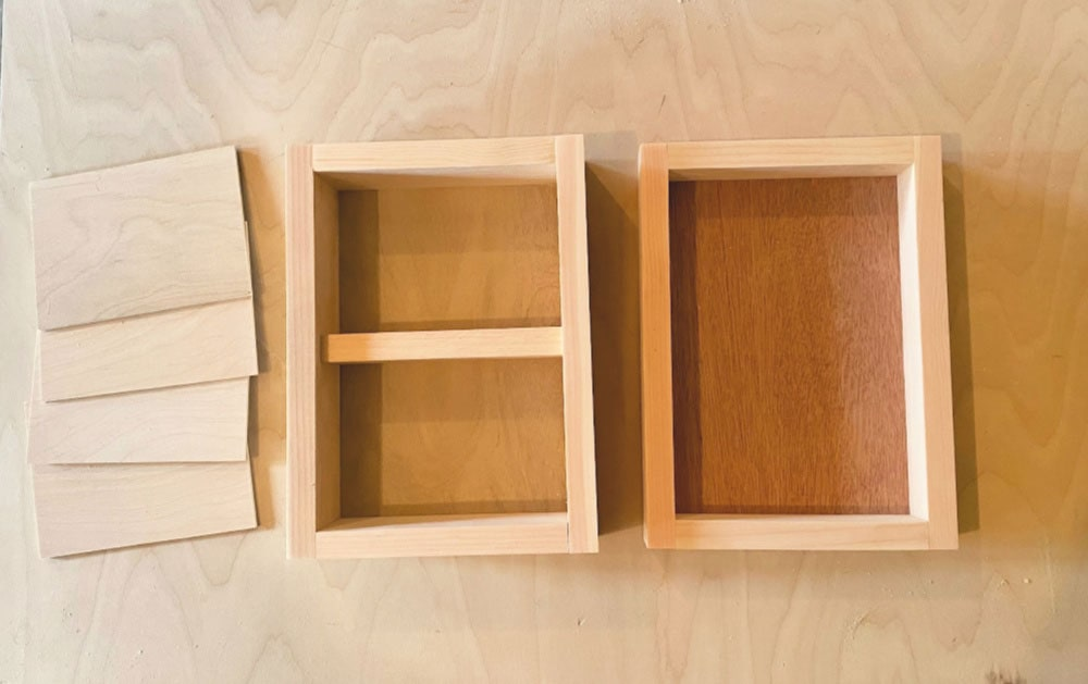 beauty box pieces built