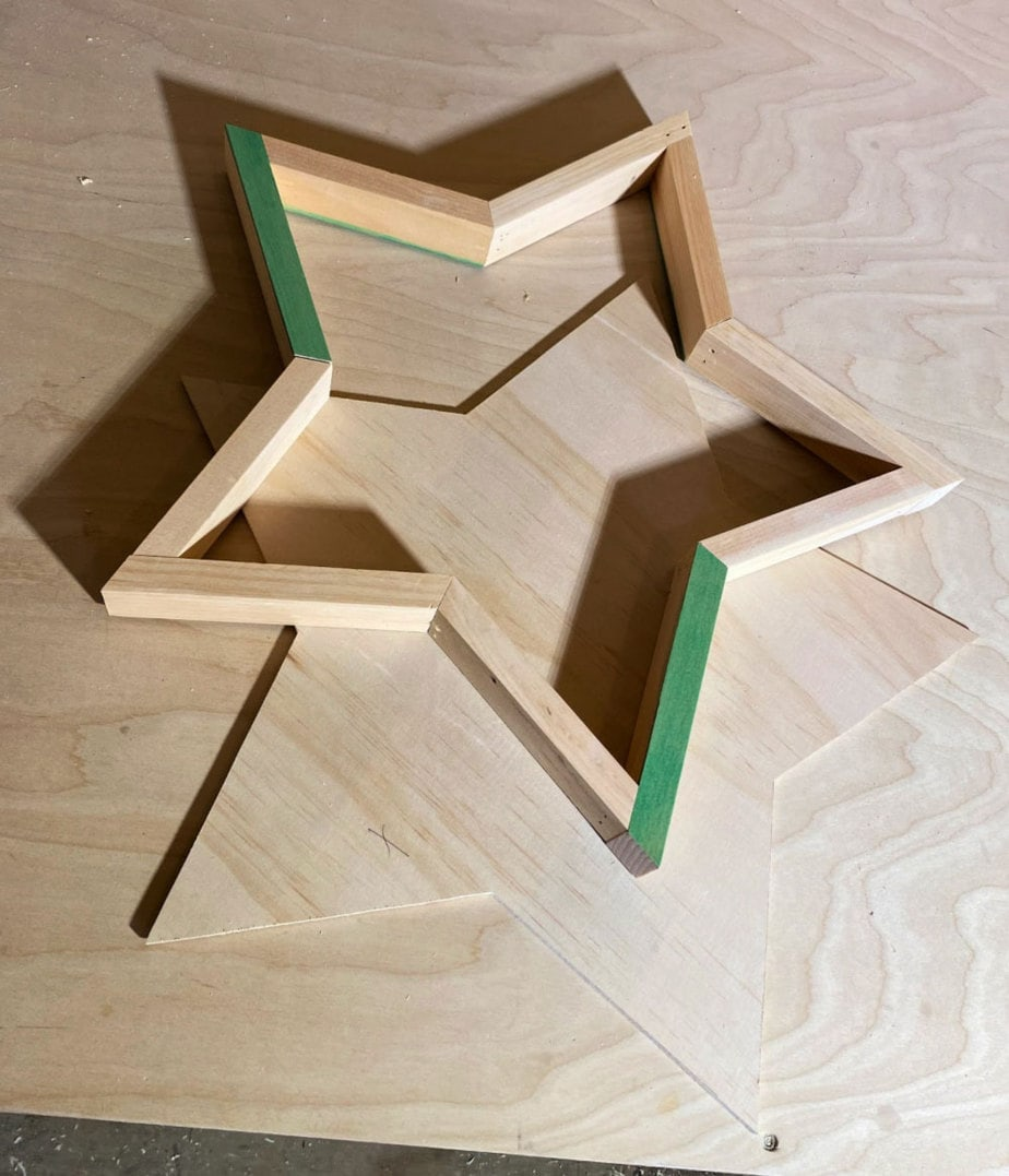wood star with backing