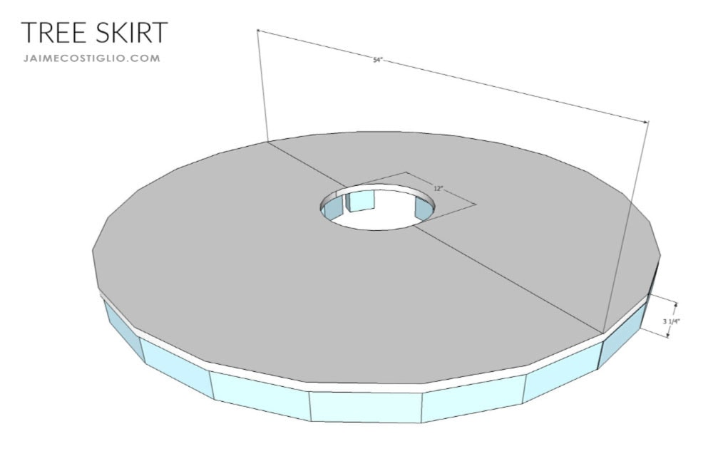 diy train track tree skirt dimensions