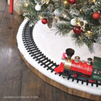 christmas tree skirt for train