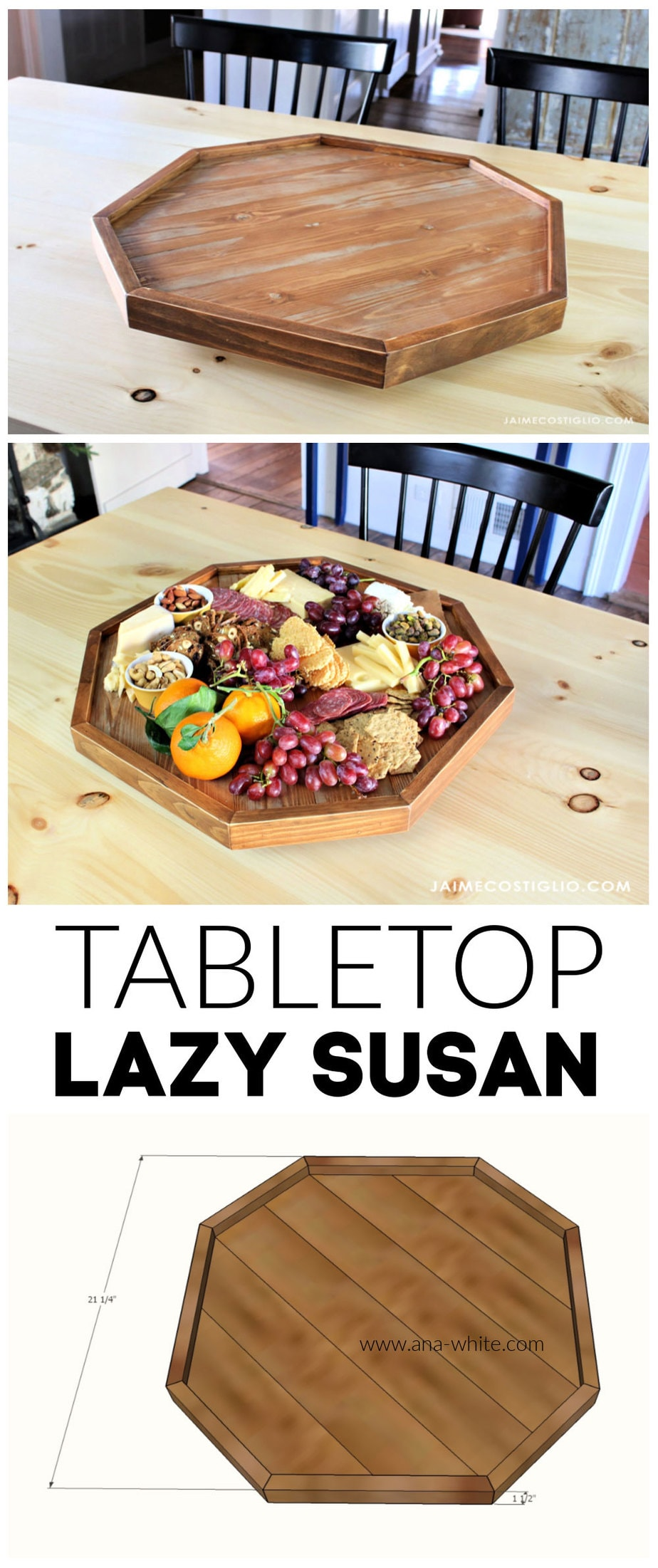 diy tabletop lazy susan free plans