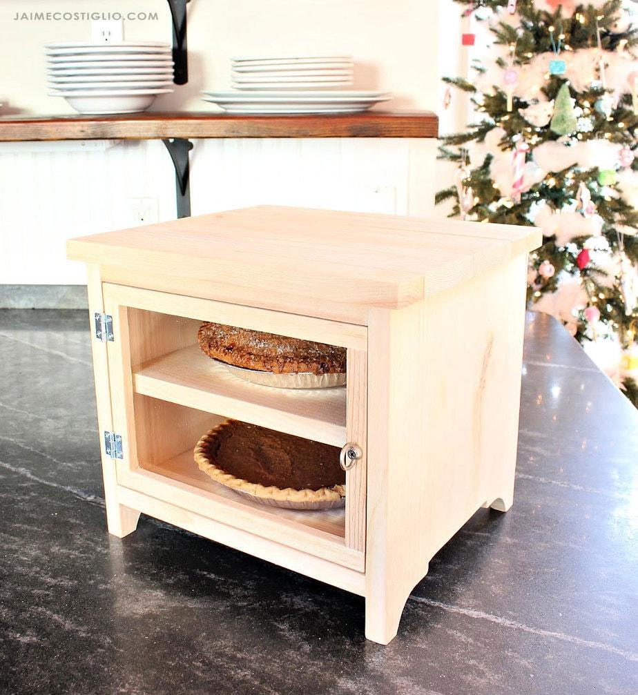 diy countertop pie storage box