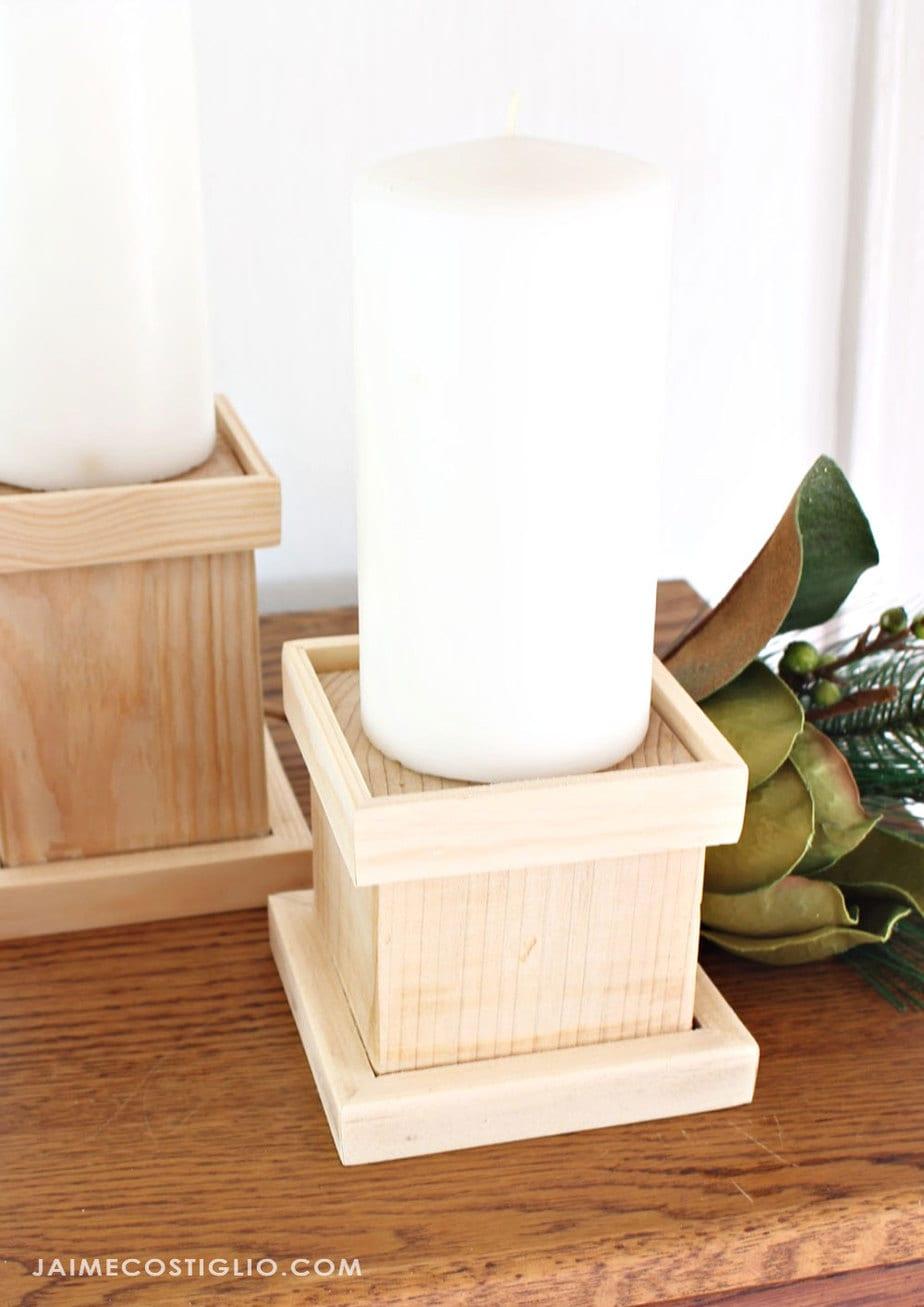 Diy Pillar Candle Holders Jaime Costiglio