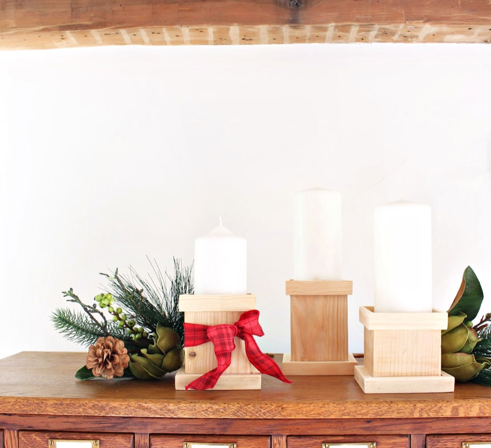 diy pillar candle holders