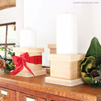 diy wood pillar candle holders