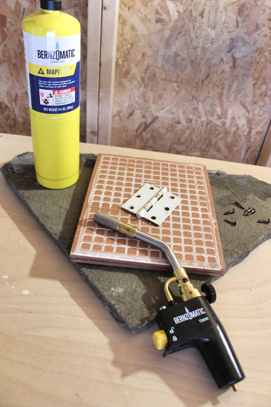 use ceramic tile or stone underneath
