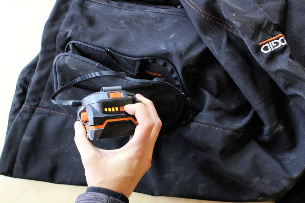 Ridgid battery charge indicator
