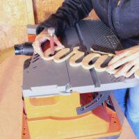 oscillating edge sanding interior