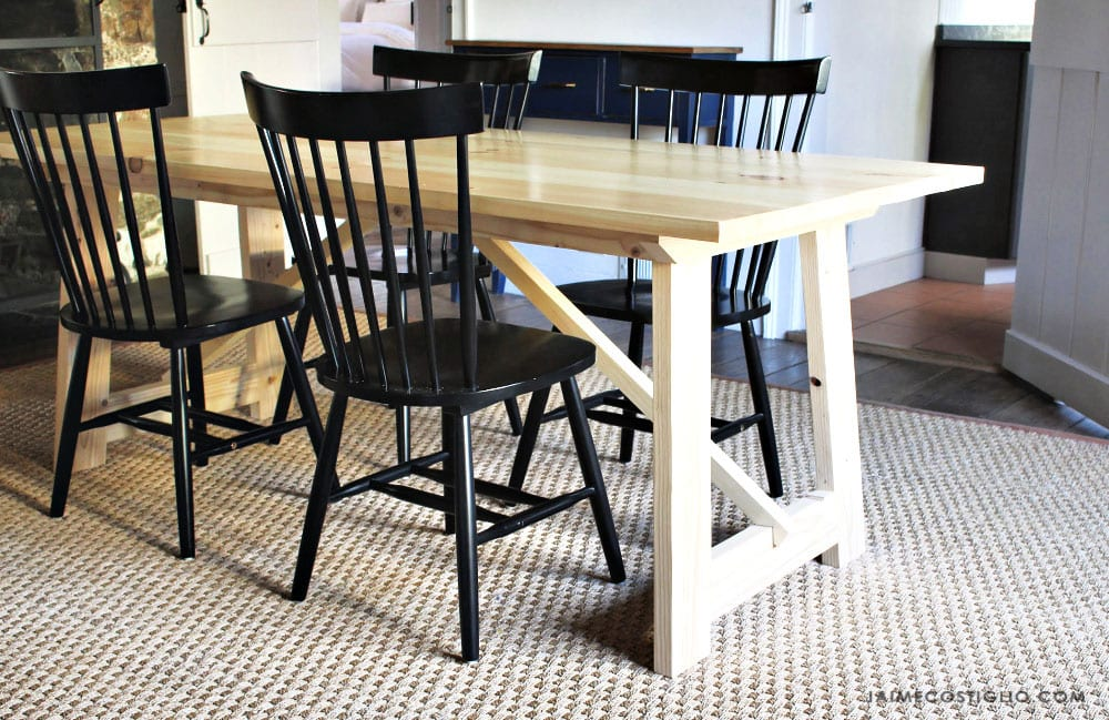 dining table with stud lumber base