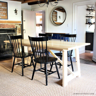 architect style dining table