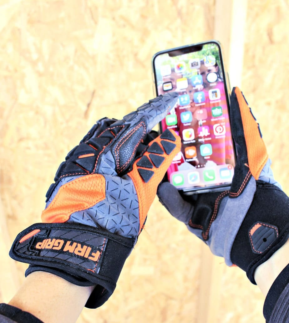 firm grip gloves touchscreen capability