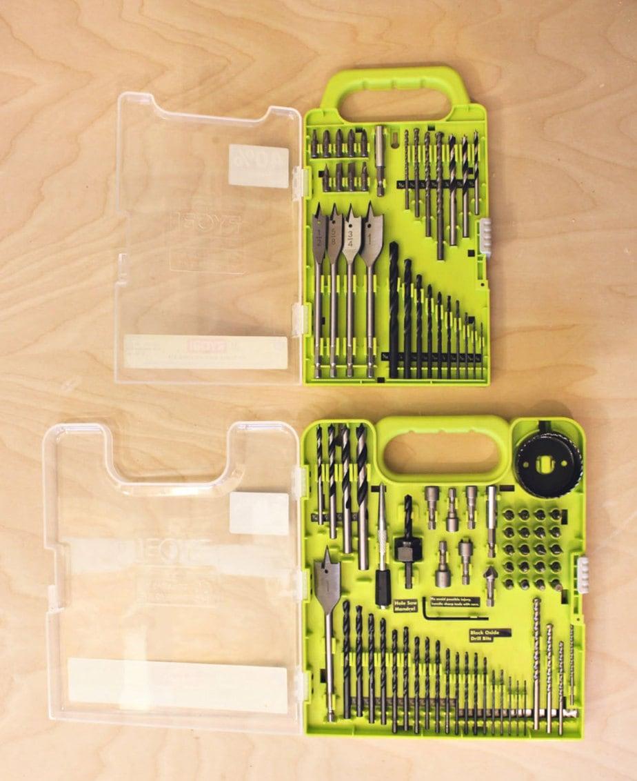 ryobi drill bits open