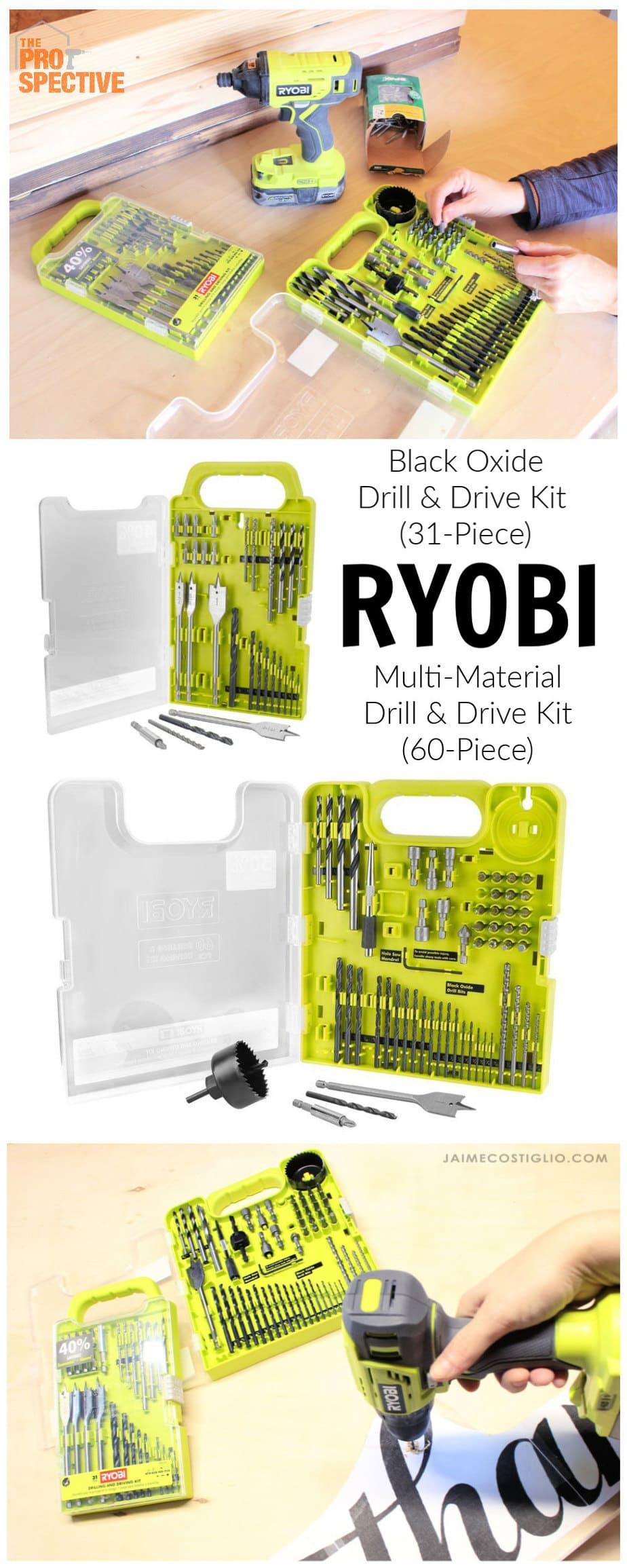 ryobi drilling and driving bit packs