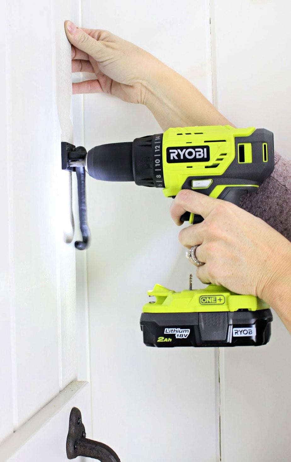 Ryobi drill installing screws