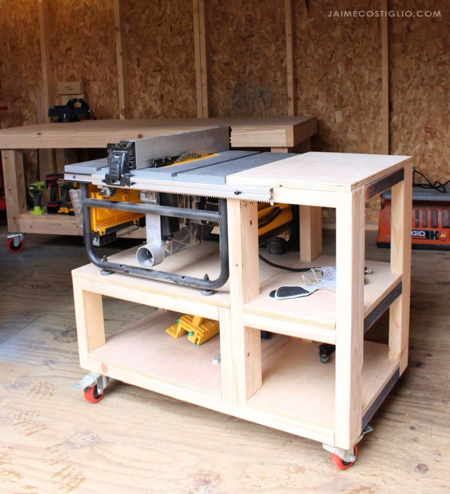 table saw storage