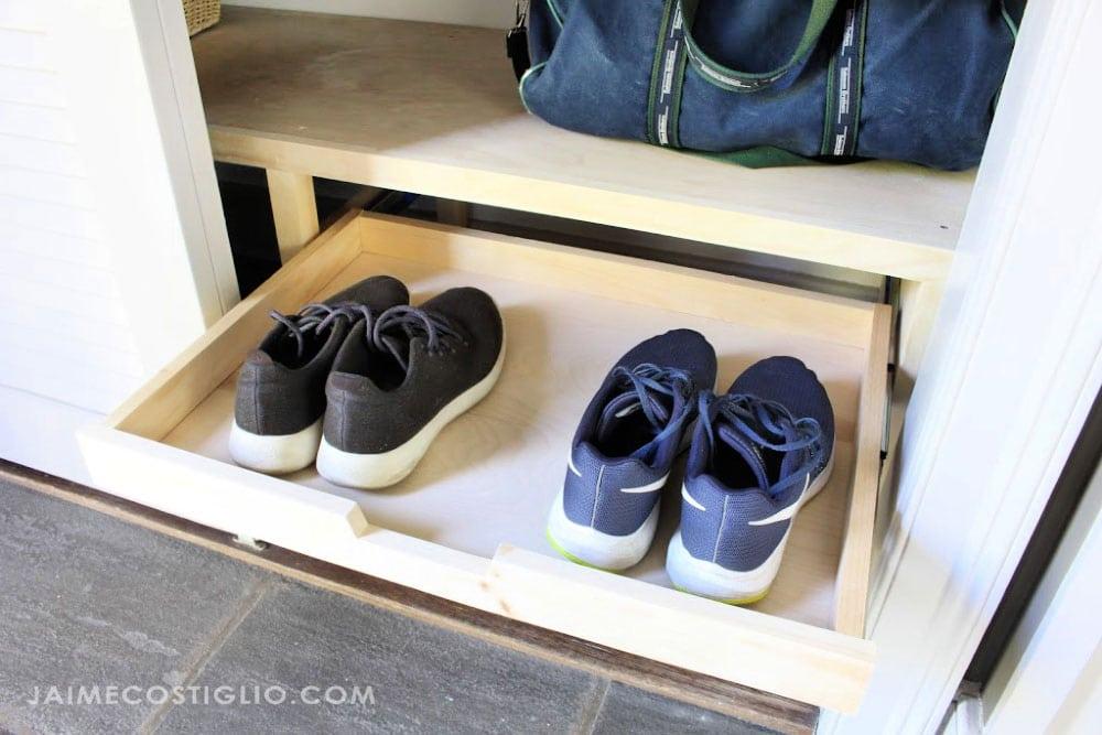 sneaker storage in closet