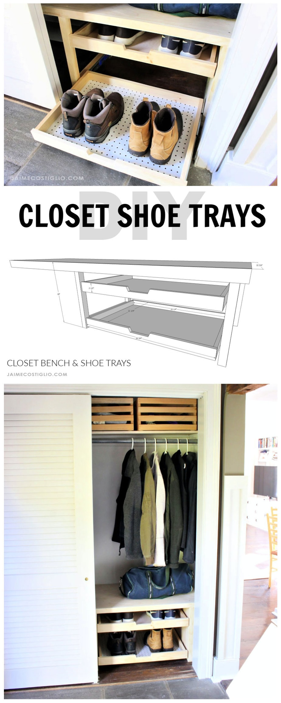 diy closet shoe trays free plans