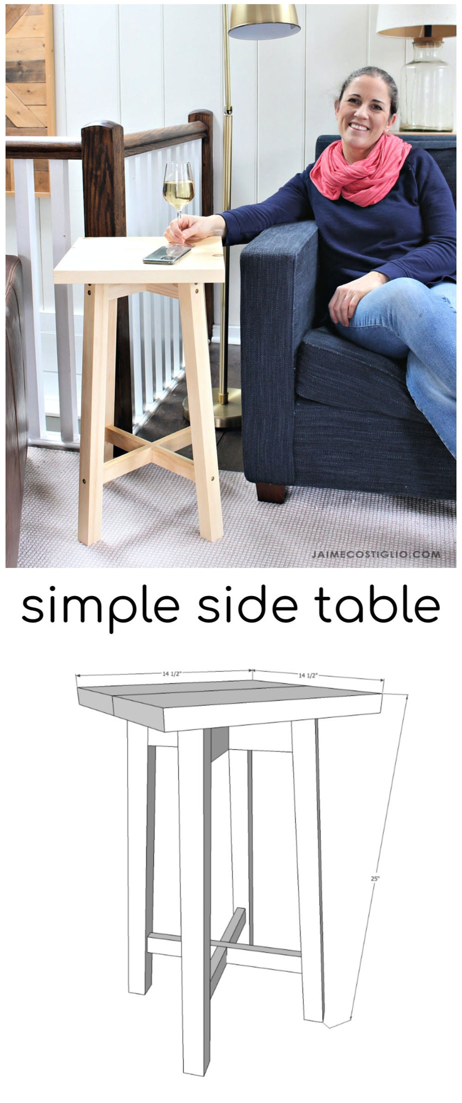 diy simple side table free plans