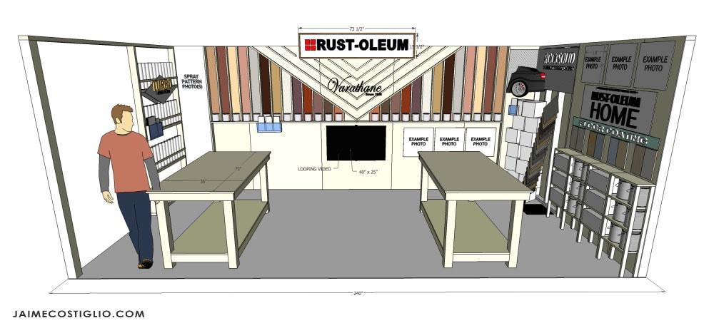 rustoleum booth sketchup