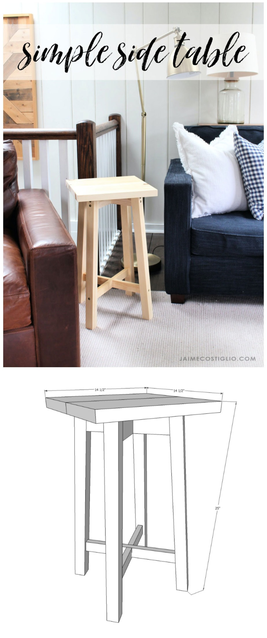 side table free plans