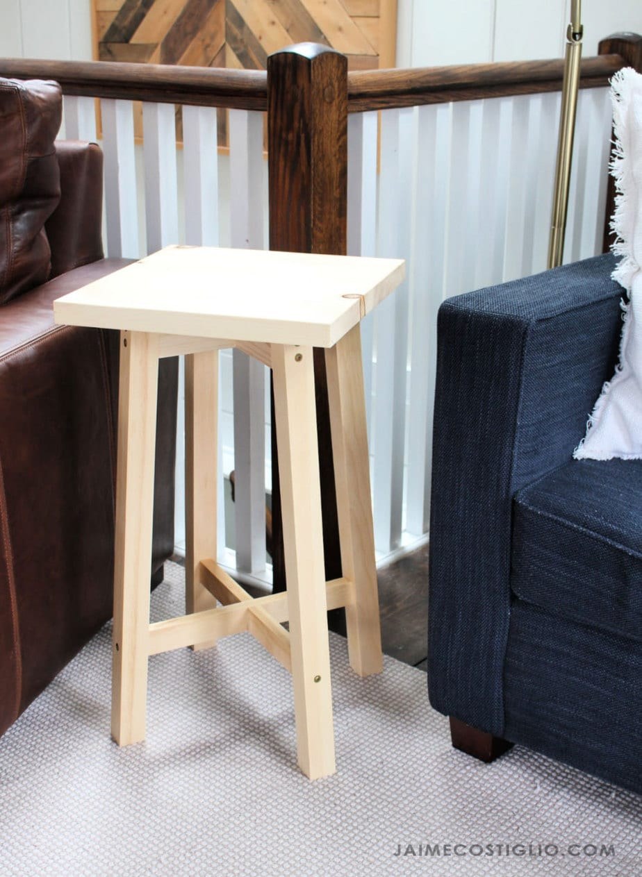 small square table