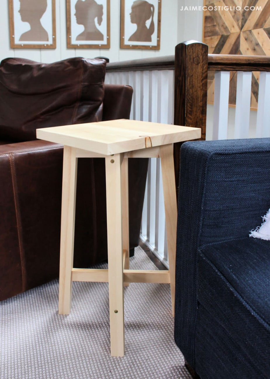 square top side table