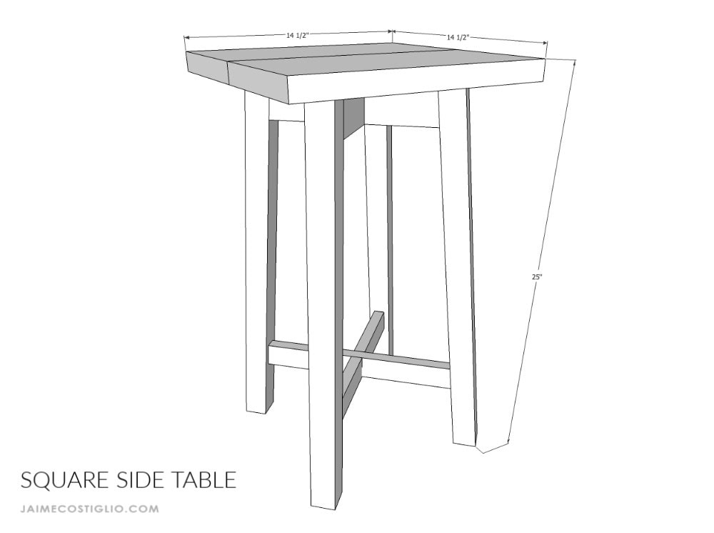 simple square side table dimensions