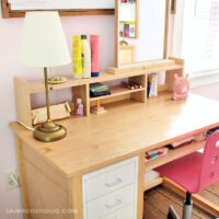 diy desk topper shelf