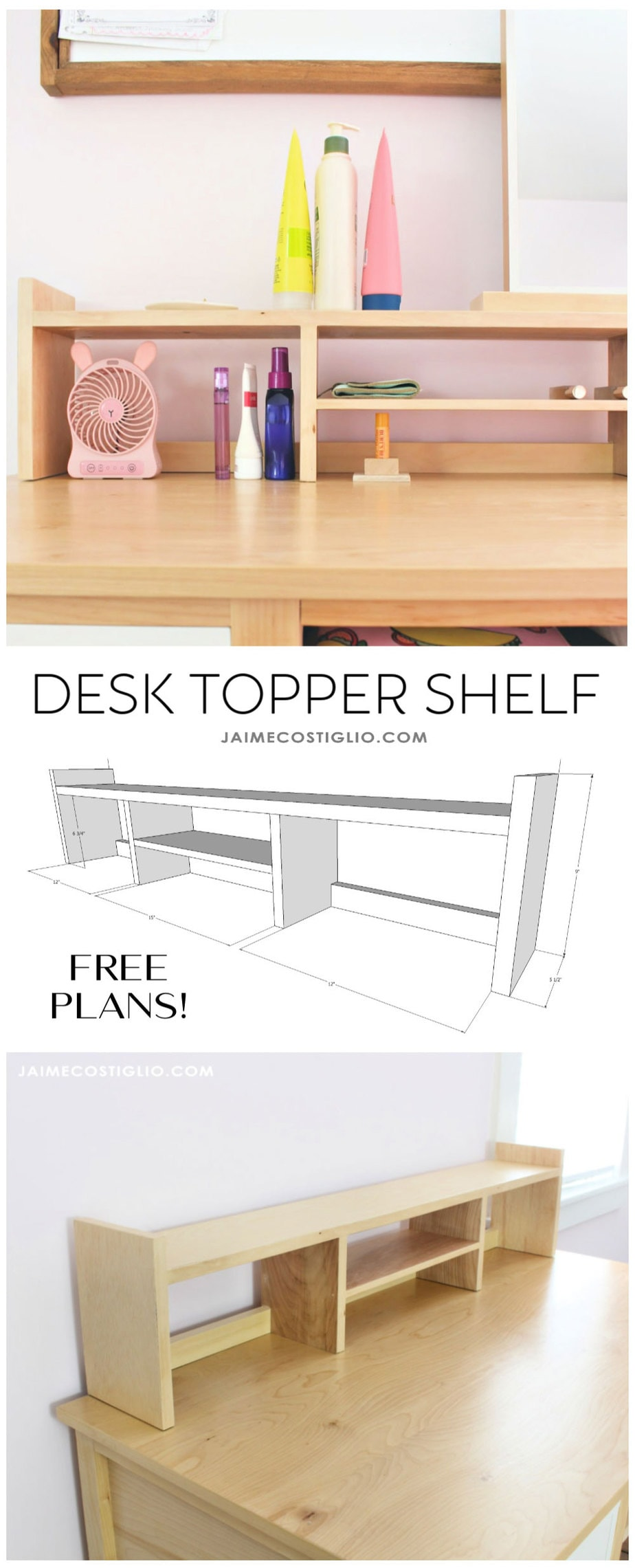 desk topper shelf free plans