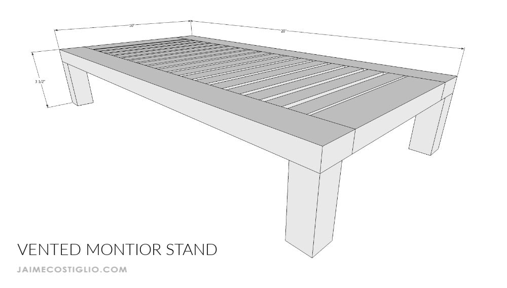 diy monitor stand dimensions