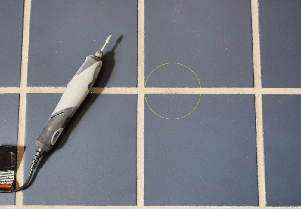removing paint from grout