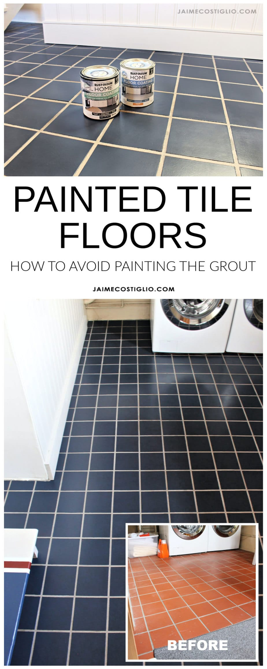 diy painted tile floors