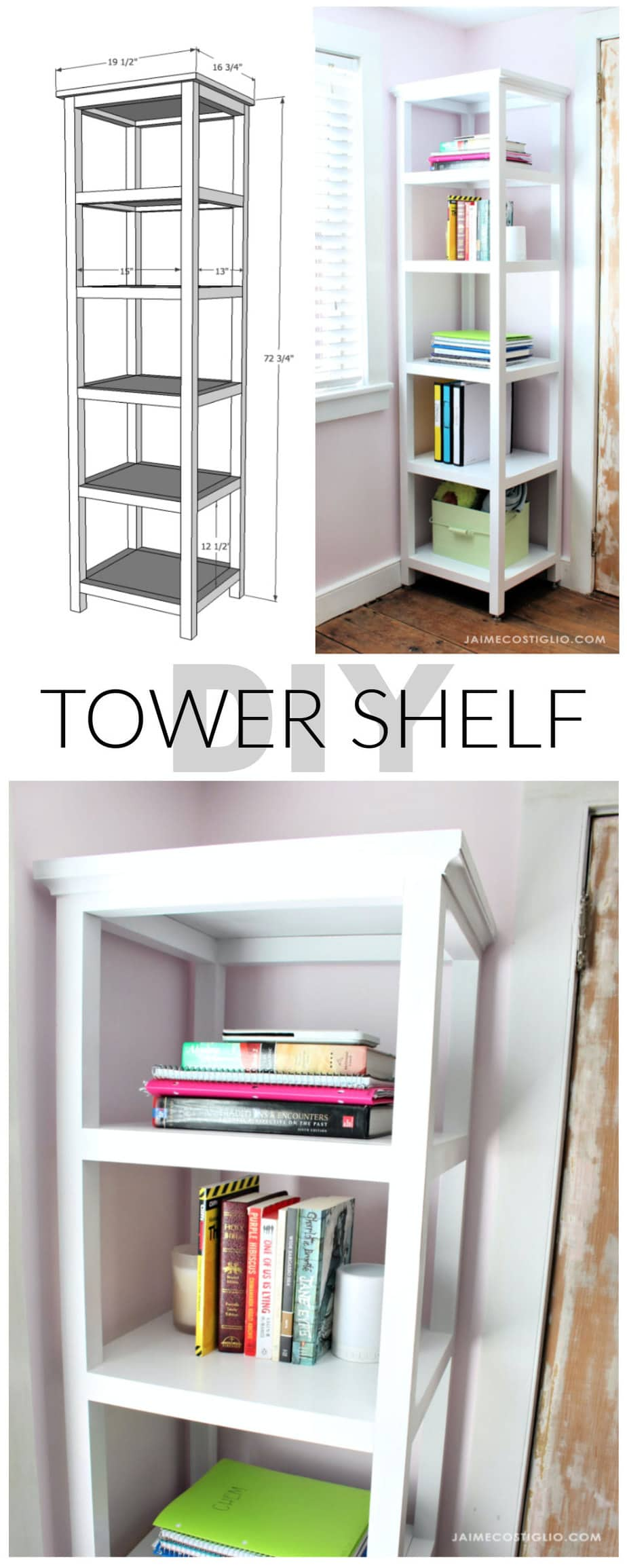 diy tower shelf