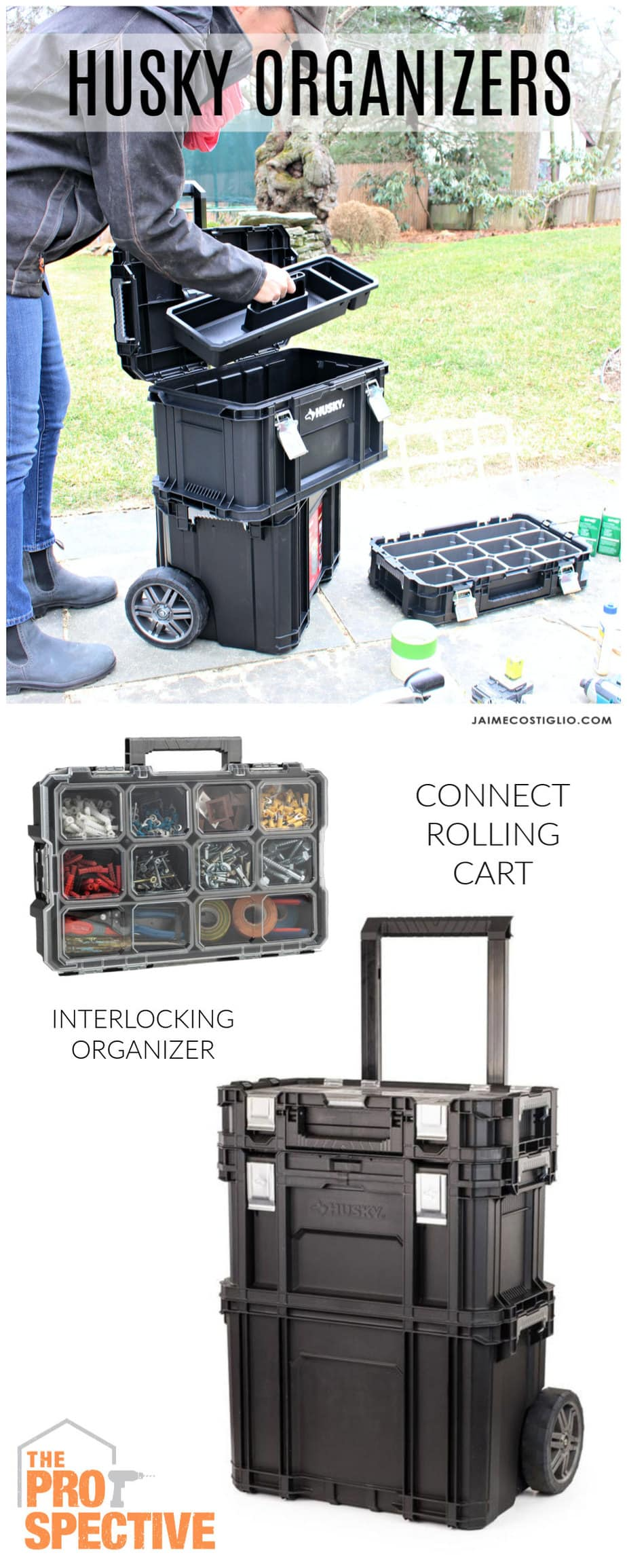 husky rolling cart and organizer