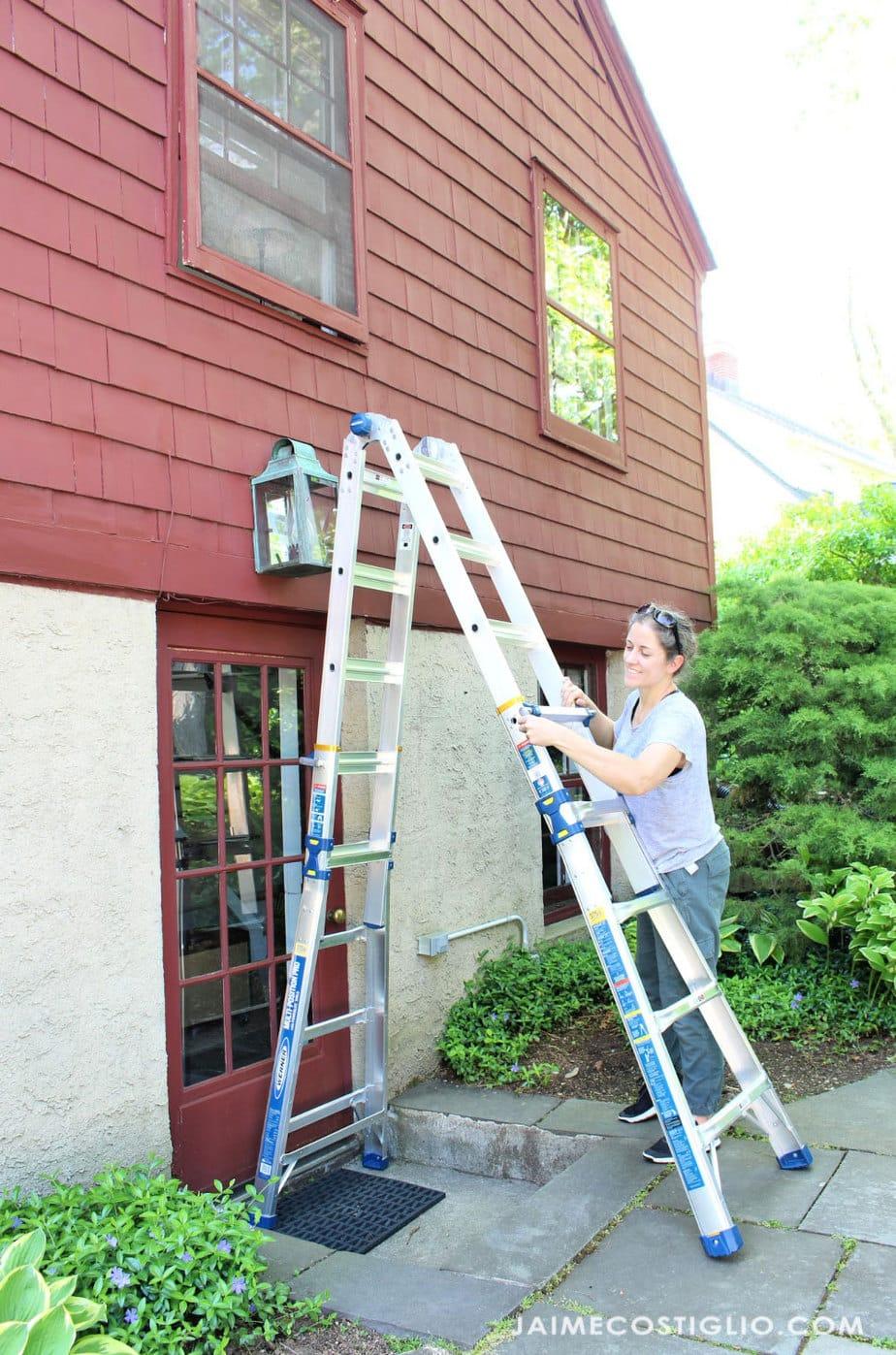 adjusting pro ladder height
