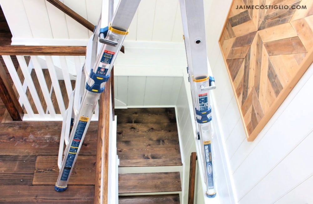 stairway ladder in position