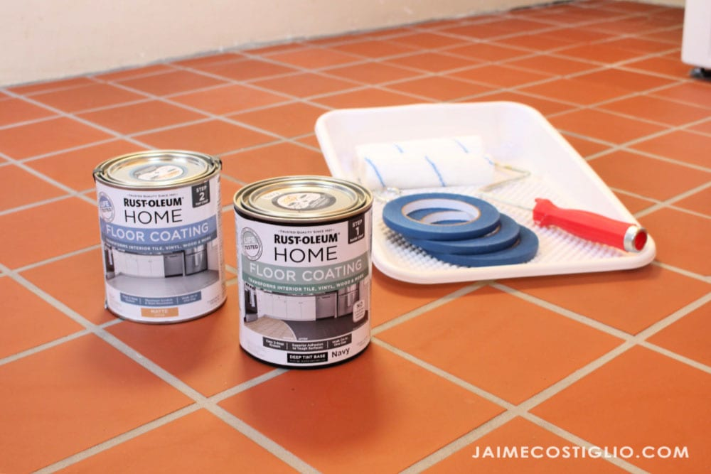supplies to paint tile floors