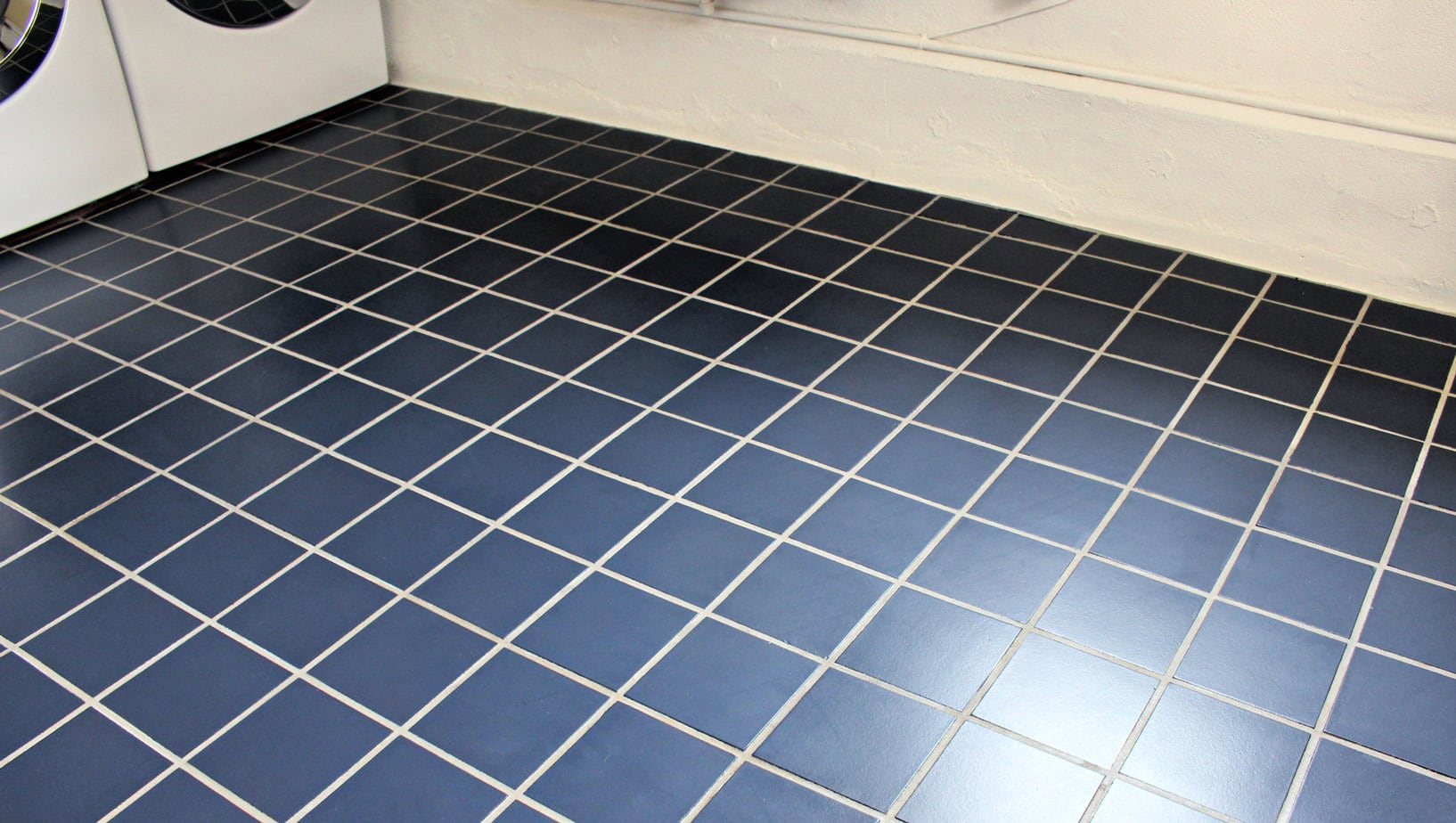 navy blue painted tile