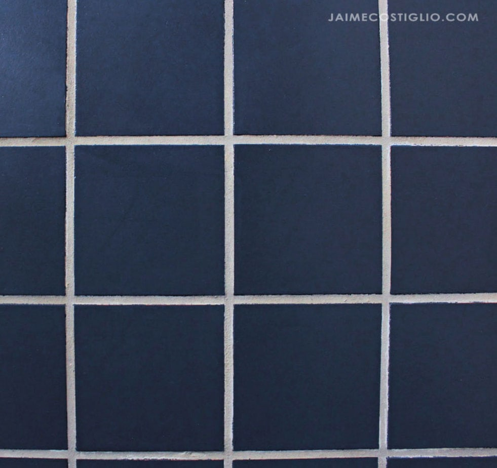 navy painted tile floors
