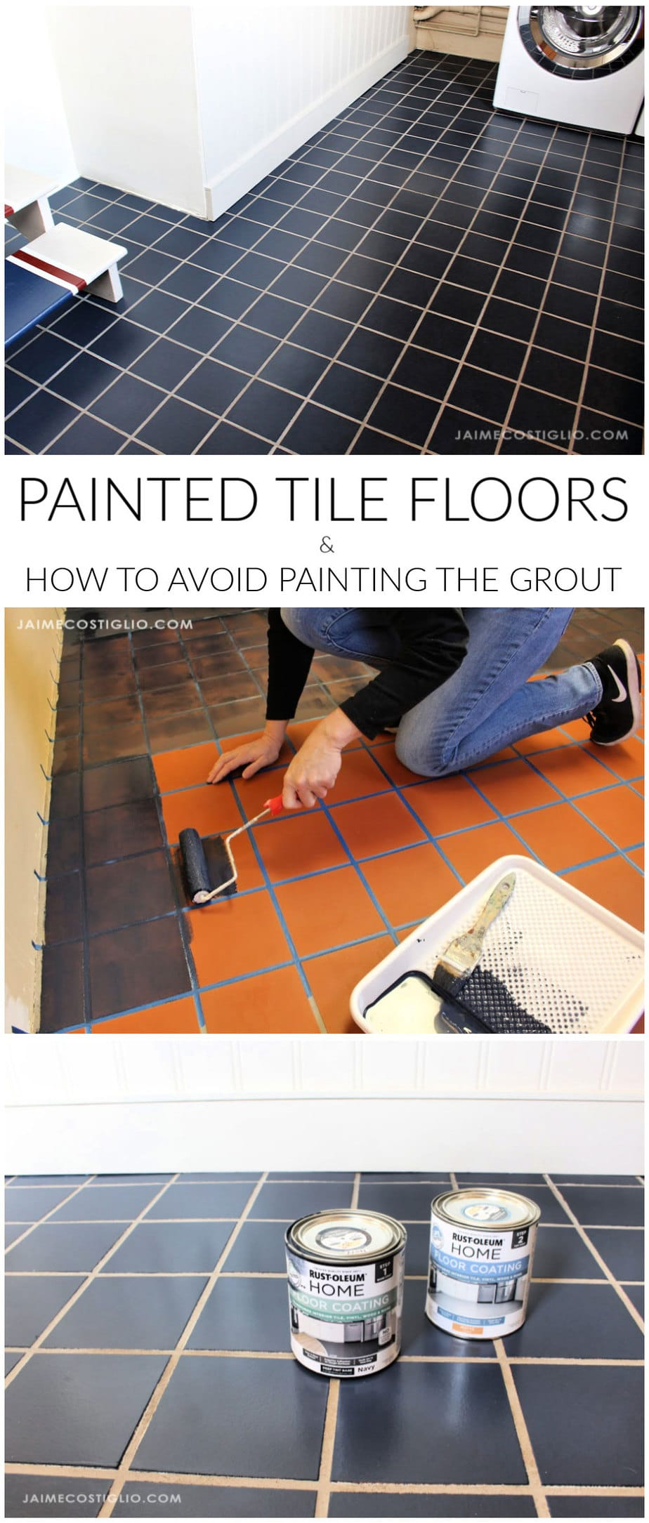 how to paint tile floors